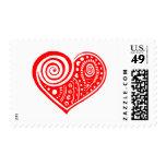 Corazón /blk de Paisley Sello