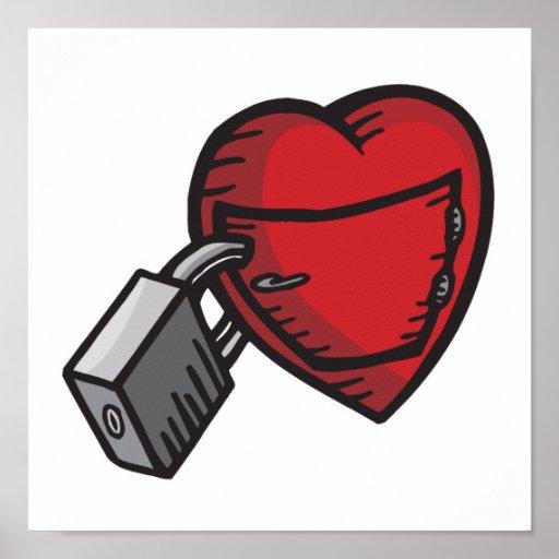 corazón bloqueado póster