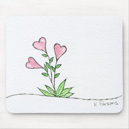 Corazón Boquet Tapete De Ratón