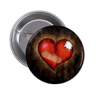 Corazón-botón del corazón quebrado de la reparació pin