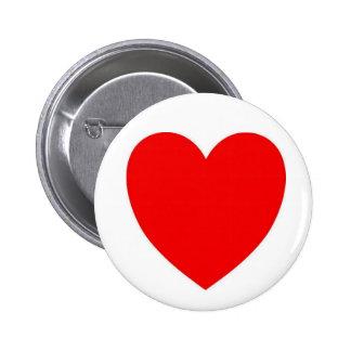 Corazón, botón pins