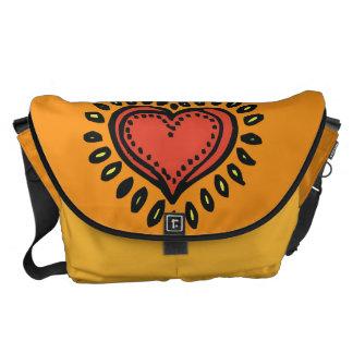 Corazón brillante bolsa de mensajeria