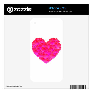 Corazón brillante calcomanías para el iPhone 4