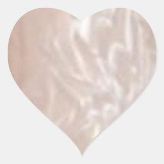 Corazón brillante pegatina en forma de corazón
