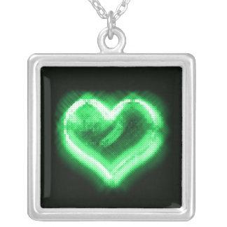 Corazón brillante verde Neckalcelace Joyeria Personalizada