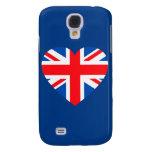 Corazón británico BRITÁNICO Gran Bretaña de la ban