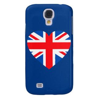 Corazón británico BRITÁNICO Gran Bretaña de la ban Funda Para Galaxy S4