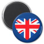 Corazón británico BRITÁNICO Gran Bretaña de la ban Imán De Frigorífico