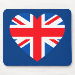 Corazón británico BRITÁNICO Gran Bretaña de la ban Alfombrillas De Raton