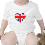 Corazón británico BRITÁNICO Gran Bretaña de la Trajes De Bebé
