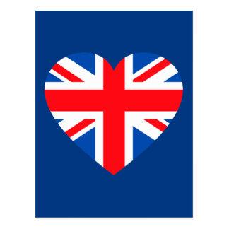Corazón británico BRITÁNICO Gran Bretaña de la Postal