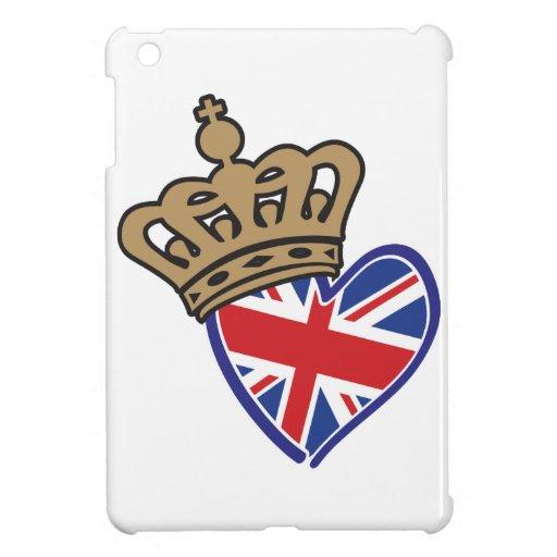 Corazón BRITÁNICO de la bandera de la corona real