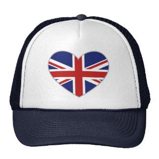 Corazón británico gorro de camionero