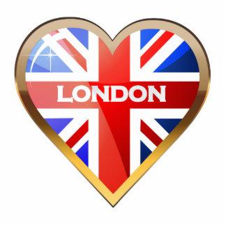 Corazón británico imán fotoescultura