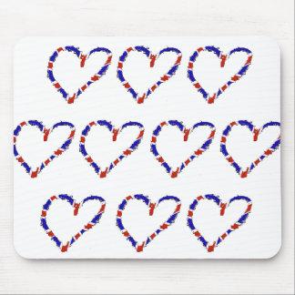 Corazón británico Mousemat Mousepads
