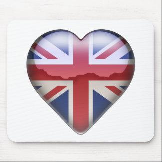 Corazón BRITÁNICO Tapete De Ratones