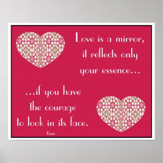 Corazón caleidoscópico de la mandala - poster .4 d