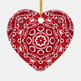 Corazón caleidoscópico Ornament.1 Adorno De Cerámica En Forma De Corazón