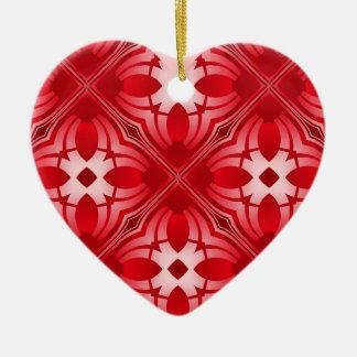 Corazón caleidoscópico Ornament.3 Adorno De Cerámica En Forma De Corazón