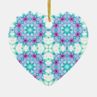 Corazón caleidoscópico personalizado Ornament.4 Adorno De Cerámica En Forma De Corazón