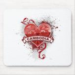 Corazón Camboya Tapetes De Ratones