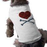 corazón camisetas mascota