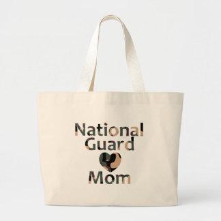 Corazón Camo de la mamá del Guardia Nacional Bolsas De Mano