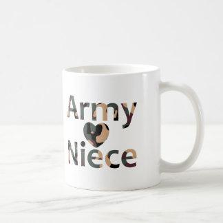 Corazón Camo de la sobrina del ejército Tazas De Café