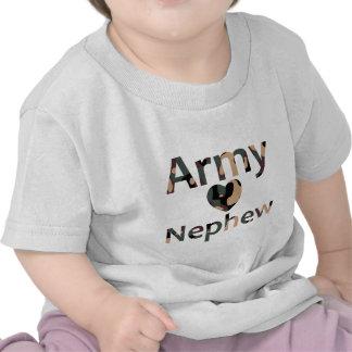 Corazón Camo del sobrino del ejército Camiseta