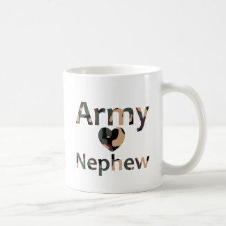 Corazón Camo del sobrino del ejército Taza De Café