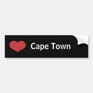 Corazón Cape Town Pegatina Para Auto
