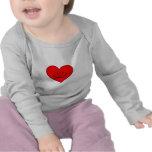 Corazón (cara feliz) camisetas