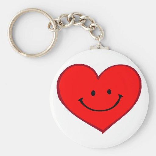Corazón (cara feliz) llaveros personalizados