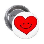 Corazón (cara feliz) pins