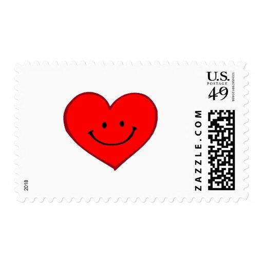 Corazón (cara feliz) sello