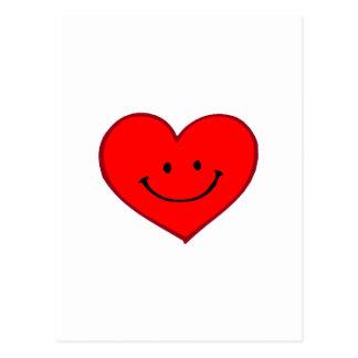 Corazón (cara feliz) tarjetas postales