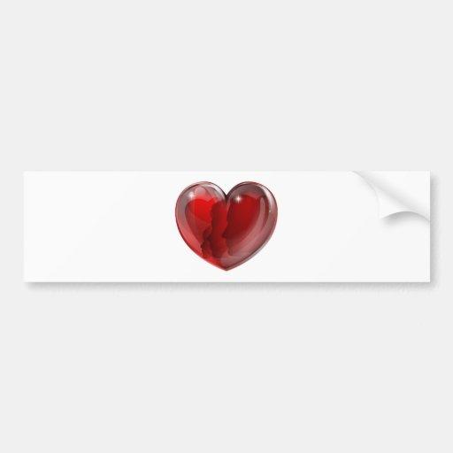Corazón cariñoso de la familia pegatina de parachoque