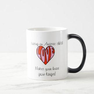 Corazón cariñoso (taza cambiante derecha de Hander