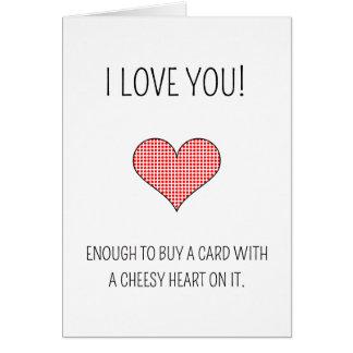 Corazón caseoso - tarjeta del el día de San Valent
