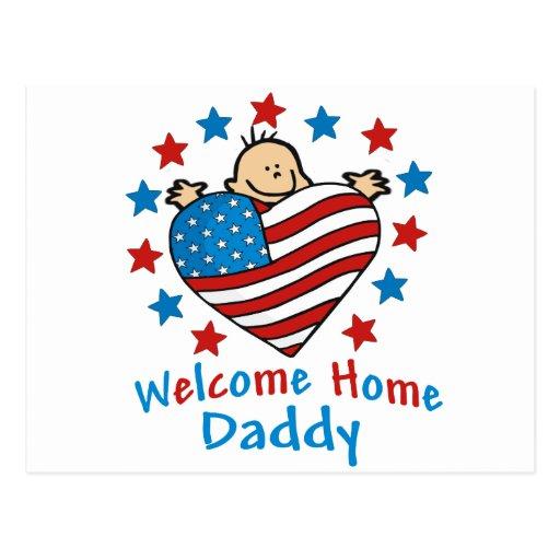 Corazón casero agradable del bebé del papá postales