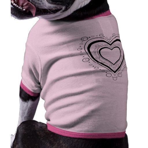 Corazón casi completo camiseta con mangas para perro
