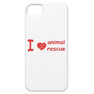 [Corazón} caso animal del iPhone 5 del rescate I iPhone 5 Funda