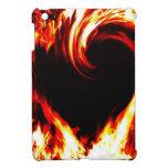 Corazón caso de IPad del fuego del mini iPad Mini Carcasas