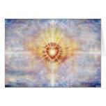 Corazón celestial tarjeta de felicitación