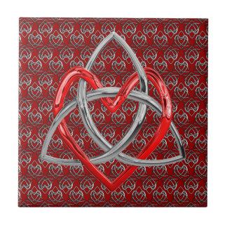 Corazón céltico de la trinidad azulejos ceramicos