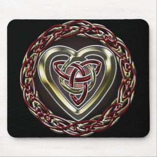 Corazón céltico Mousepad Tapetes De Ratones