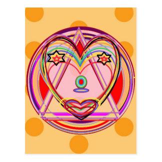 Corazón Chakra - presentación artística de NOVINO Postal