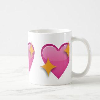 Corazón chispeante Emoji Taza