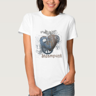 Corazón clavado amor de Steampunk Polera