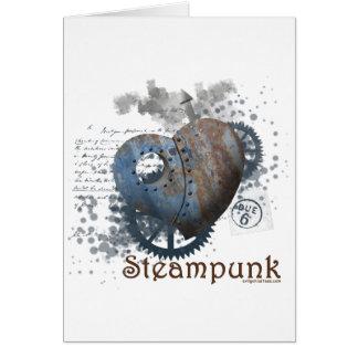 Corazón clavado amor de Steampunk Tarjeta De Felicitación